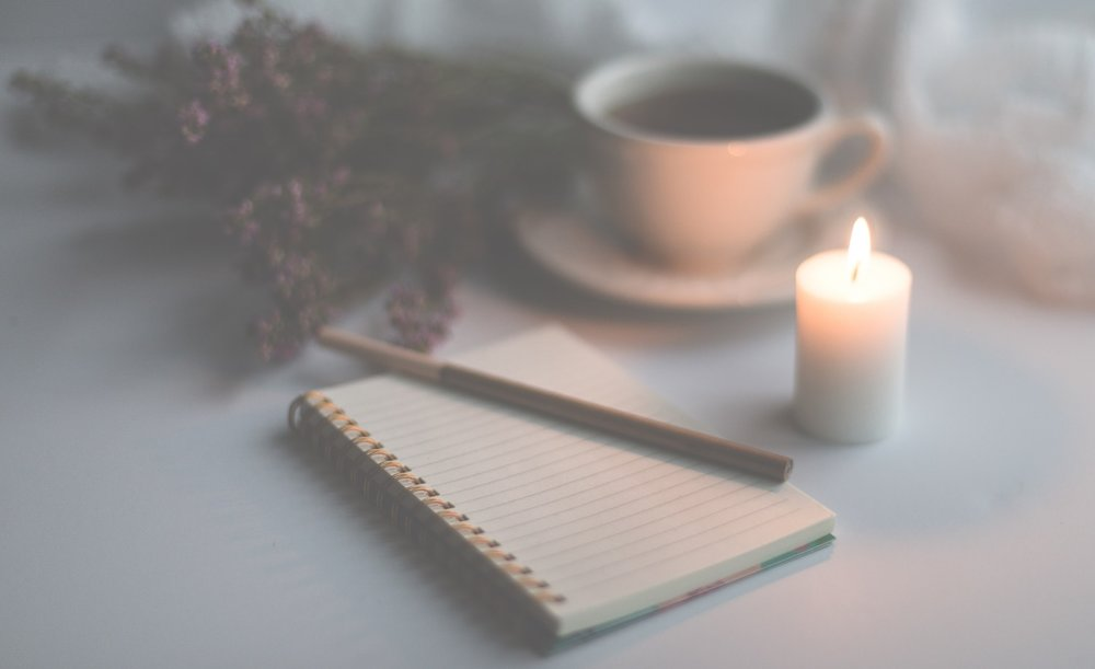 Image of a journal and candle