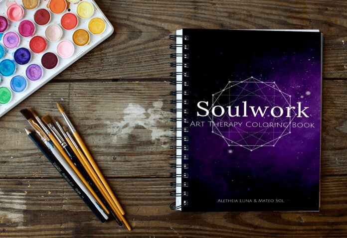 Soulwork coloring journal 3D image